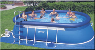 Above ground swimming pools intex for your recreational - Intex oval frame pool ...